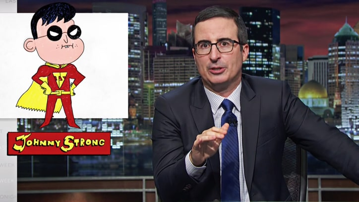 Watch John Oliver Pitch 5th Grade Superhero 'Johnny Strong' to Hollywood