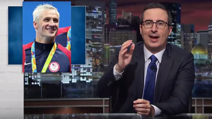 Watch John Oliver's Takedown of 'America's Idiot Sea Cow' Ryan Lochte