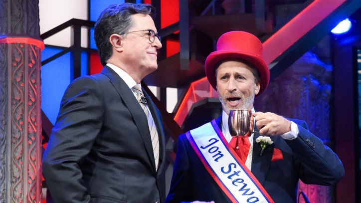 Watch Jon Stewart, Stephen Colbert's Musical Voting PSA