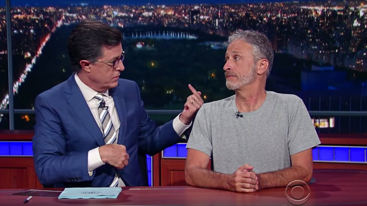 See Jon Stewart Take Over 'Late Show' to Slam RNC, Trump, Fox News