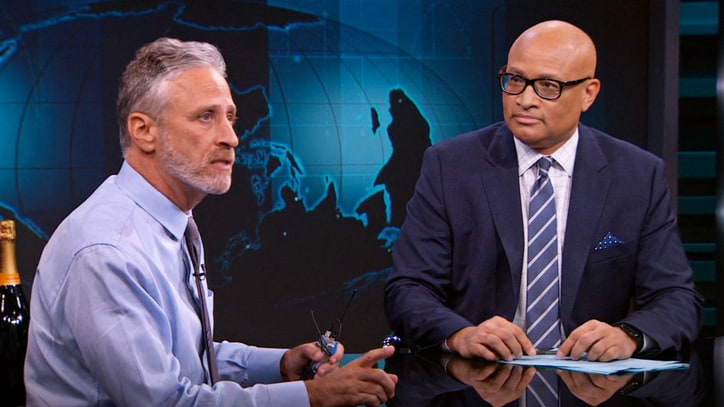 Watch Jon Stewart's Poignant Farewell to Larry Wilmore and 'Nightly Show'