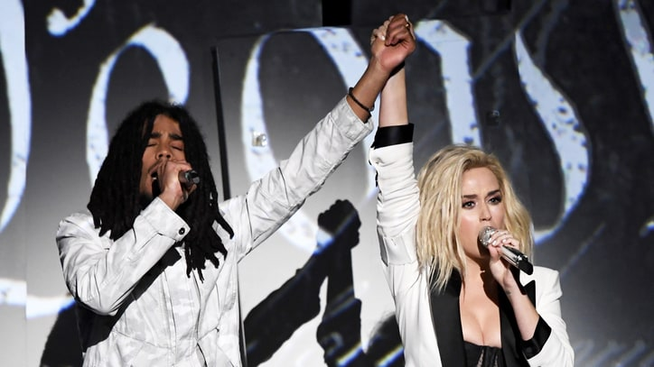 Watch Katy Perry's Politically Charged 'Chained to the Rhythm' at Grammys