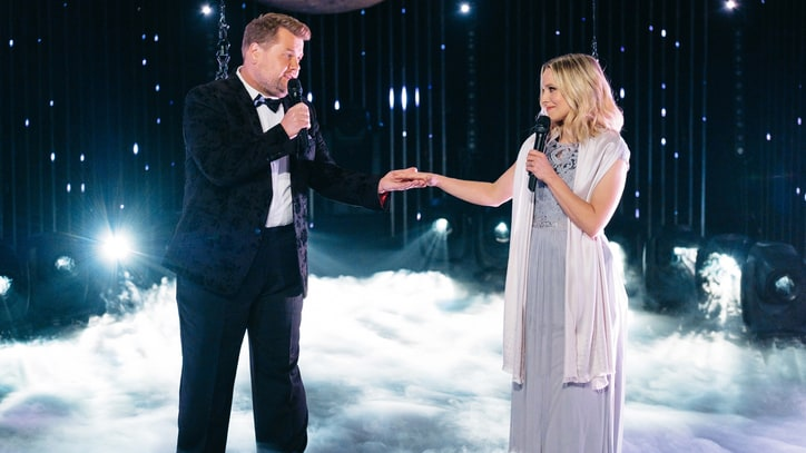 Watch Kristen Bell, James Corden Perform Awkward Aerial Duet