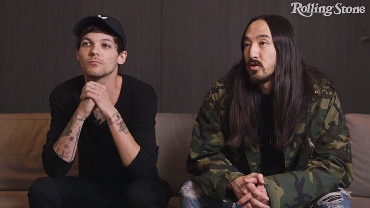 Watch Louis Tomlinson, Steve Aoki Discuss Partying, Swapping Careers