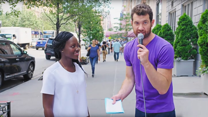 Watch Lupita Nyong'o Channel Louis C.K. on 'Billy on the Street'