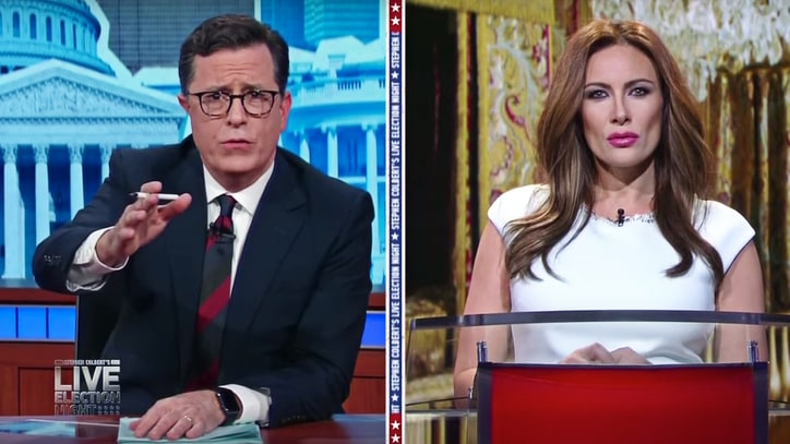 See Stephen Colbert Ask 'Melania Trump' About First Lady Plans