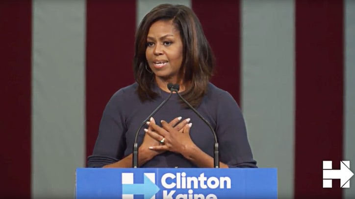 Watch Michelle Obama's Powerful Response to Donald Trump Allegations