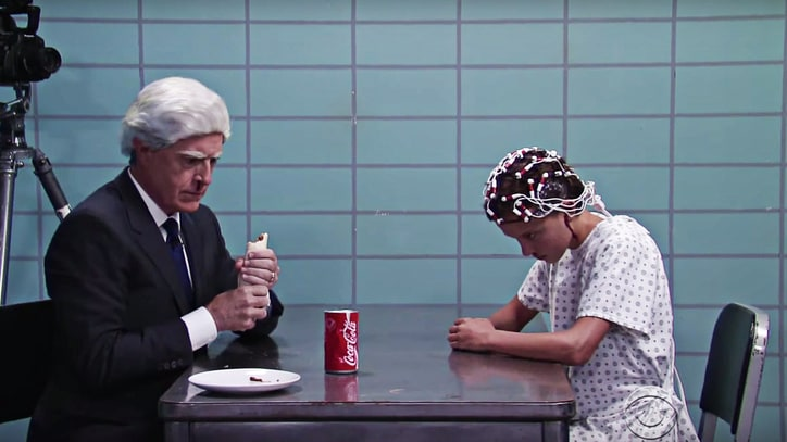 See Eleven From 'Stranger Things' Heat Stephen Colbert's Burrito