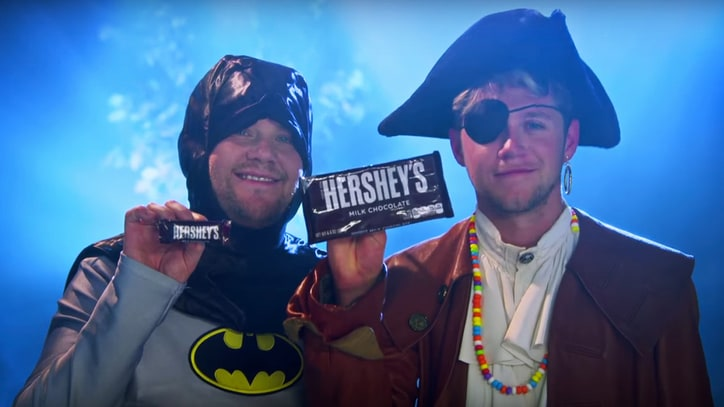 Watch Niall Horan, James Corden's 'Pony'-Inspired Halloween Slow Jam 'Candy'