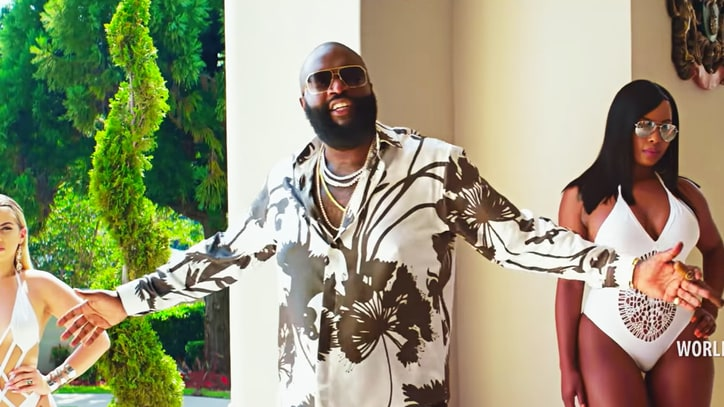 Watch Rick Ross Throw Champagne-Soaked Pool Party in 'Same Hoes' Video