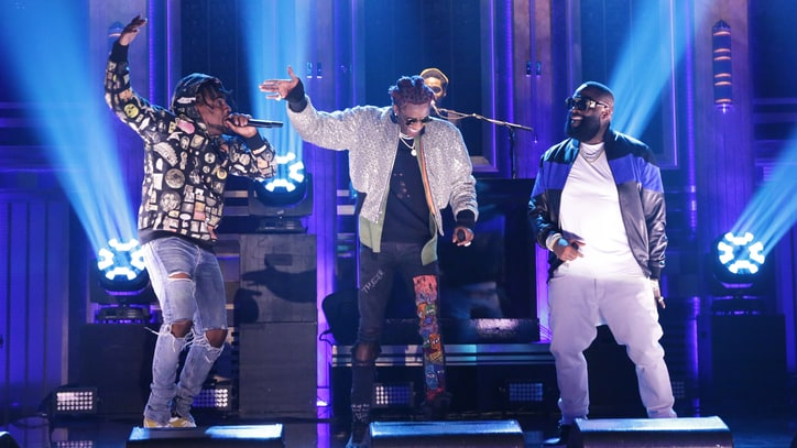 Watch Rick Ross, Young Thug, Wale's Fiery 'Trap Trap Trap' on 'Fallon'