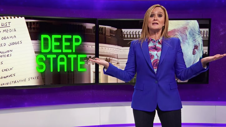 Watch Samantha Bee Skewer Trump's 'Deep State' Fears