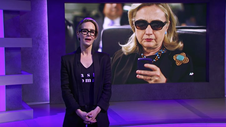 See Sarah Paulson Read Hillary Clinton's Boring Emails on 'Full Frontal'