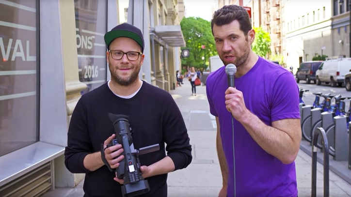 Watch Seth Rogen Fake His Own Death on 'Billy on the Street'