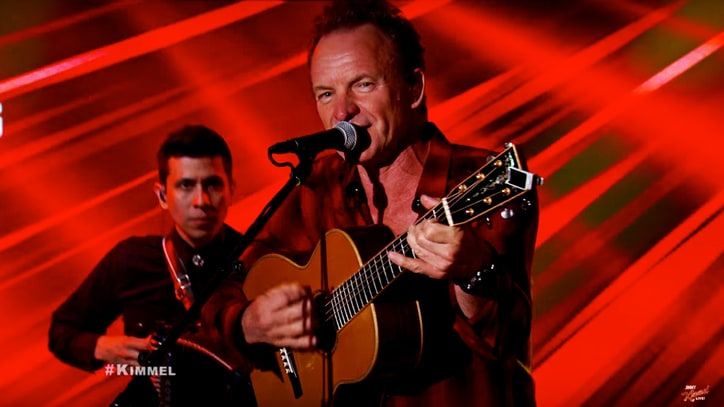 Hear Sting Perform Police Song 'Next to You' on 'Jimmy Kimmel Live!'