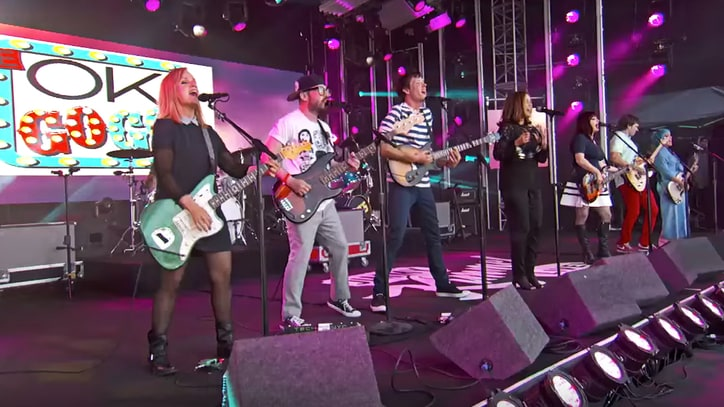 Watch Go-Go's, OK Go's Power-Pop Mash-Up on 'Kimmel'