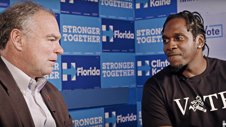 See Pusha T, Tim Kaine Talk Police Reform, Education in Clinton Video
