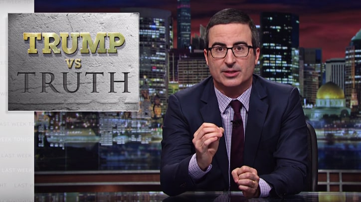 Watch John Oliver Criticize Donald Trump's Post-Fact Politics