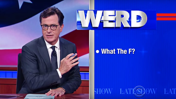 Stephen Colbert Calls Trump 'D-Bag,' 'P.O.S.' on Revived 'Werd'