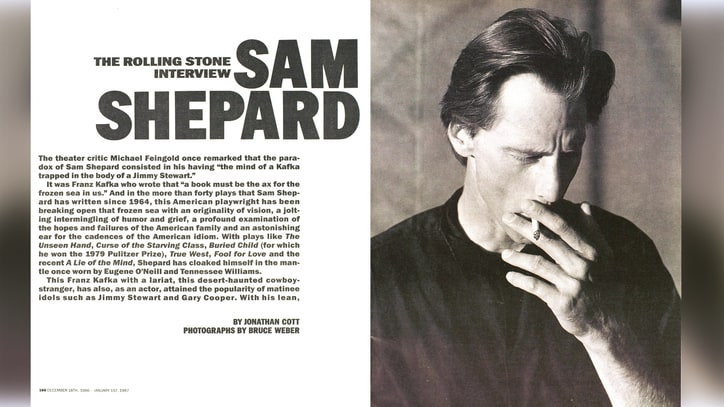 Sam Shepard on Working With Dylan, Why Jim Morrison Has No Sense of Humor