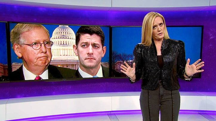 Watch Samantha Bee Parody Deal-Making Between Trump, Chuck Schumer