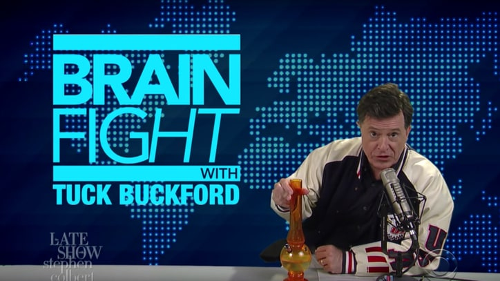 See Stephen Colbert Tease Alex Jones Over Love of Weed, Zebra Meat