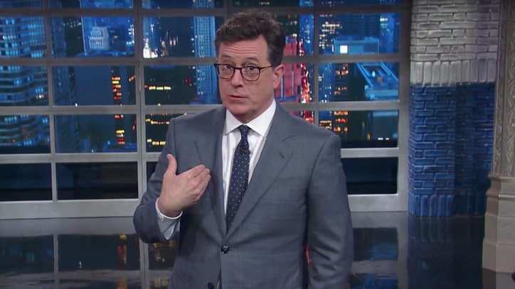 See Stephen Colbert Congratulate America for Surviving 100 Days of Trump