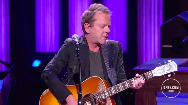 See Kiefer Sutherland's Melancholic 'Not Enough Whiskey' on the Opry