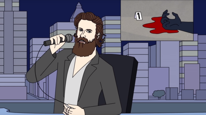 Watch Animated Father John Misty Perform Humorous New Song 'This is America'