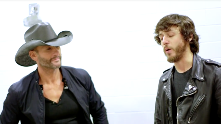 See Tim McGraw, Chris Janson's Backstage Jam on 'How I'll Always Be'