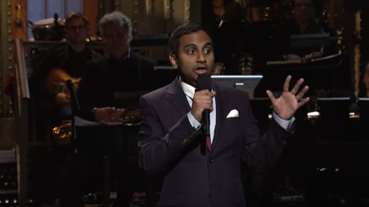 Aziz Ansari Pleads With Trump During 'SNL' Monologue