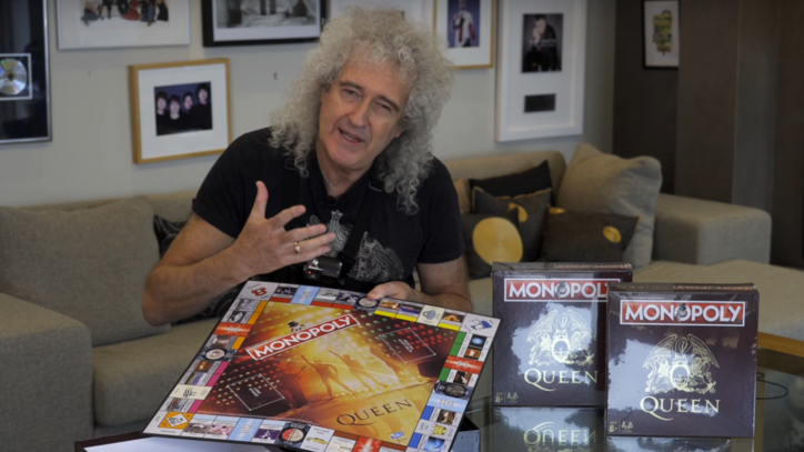See Brian May Detail Queen Monopoly Game in Unboxing Video