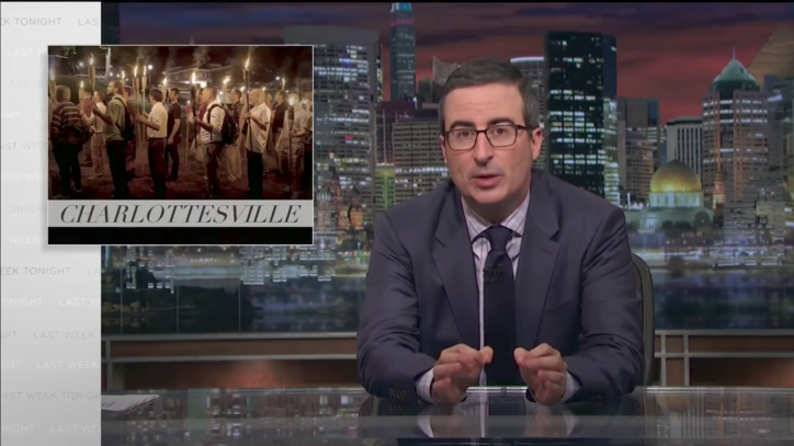 John Oliver: Trump Failed to Condemn White Power Groups for Charlottesville