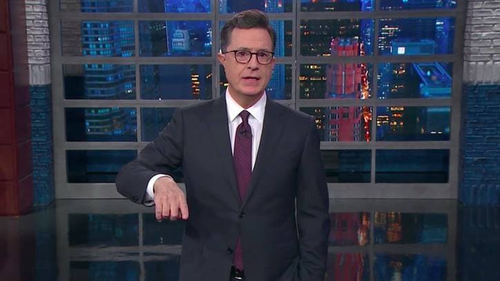 See Stephen Colbert Compare Harvey Weinstein to President Trump