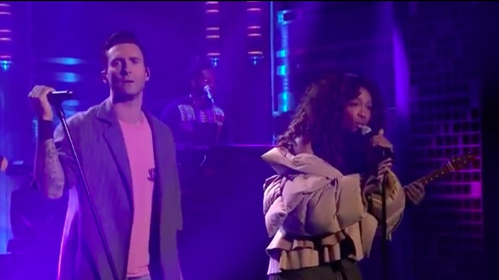 See Maroon 5, SZA's Festive 'What Lovers Do' on 'Fallon'