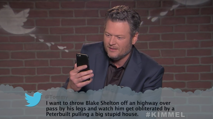 See Blake Shelton, Chris Stapleton Read Mean Tweets on 'Kimmel'