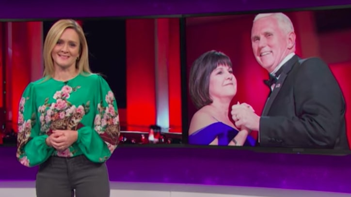 See Samantha Bee Show Mike Pence 'Coming Out' as Republican