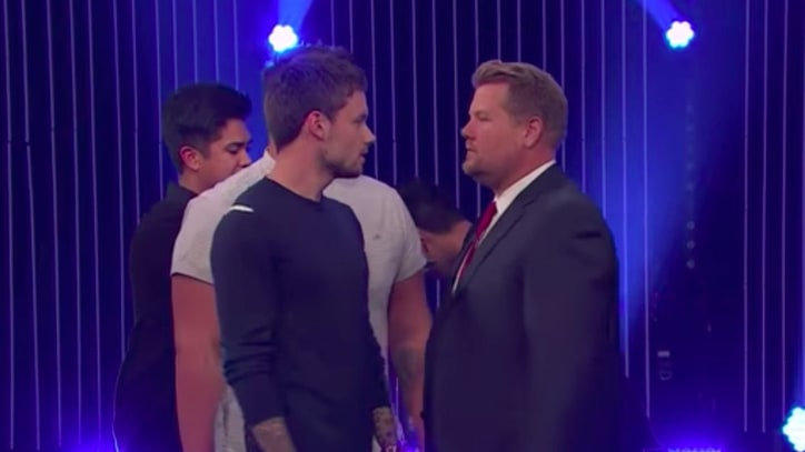 See Liam Payne, James Corden Battle in Boy Band Sing-Off