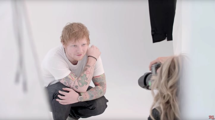 Watch Ed Sheeran Pose for First 'Rolling Stone' Cover Shoot