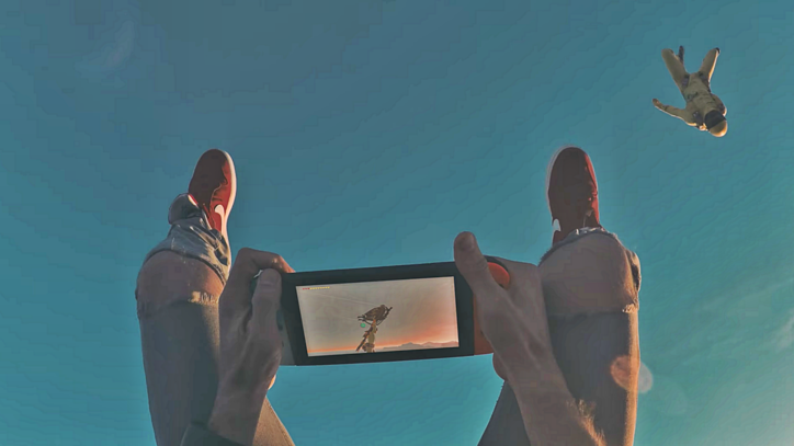 Watch Russian YouTuber Skydive With His Nintendo Switch