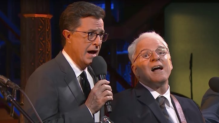 See Steve Martin Perform 'Caroline' With Stephen Colbert on 'Late Show'