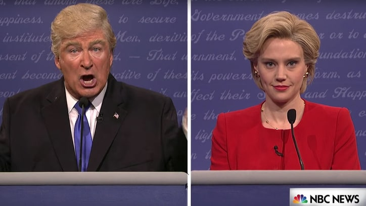 Watch Alec Baldwin's Perfect Donald Trump Impression in 'SNL' Debate Sketch