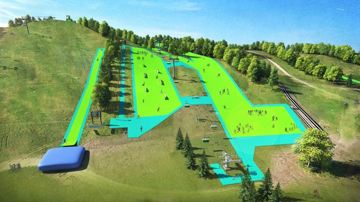 This Artificial Slope Lets You Ski Through Summer