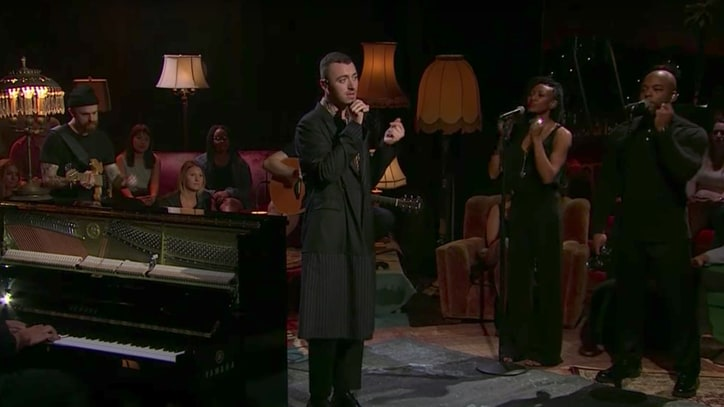 Watch Sam Smith Perform Stripped-Down 'Too Good at Goodbyes' on 'Corden'