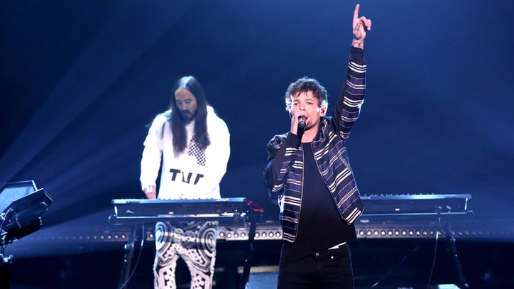 Watch Louis Tomlinson, Steve Aoki Perform Hypnotic New Song on 'Fallon'