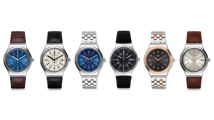 Swatch's New Head-Turning Stainless Steel Timepiece