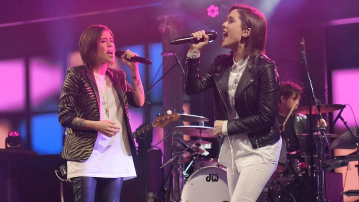 Watch Tegan and Sara Perform Flirty 'Stop Desire' on 'Colbert'