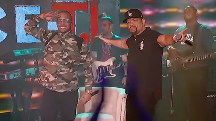 See T.I., Ice-T's Seething Mash-Up on 'Kimmel'