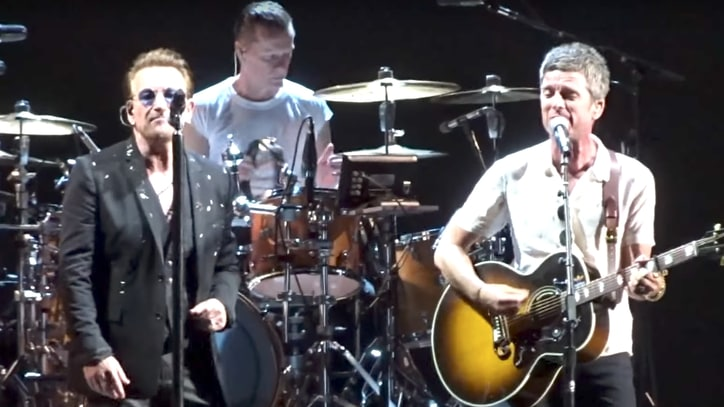 See U2, Noel Gallagher Perform Oasis' 'Don't Look Back in Anger' in London
