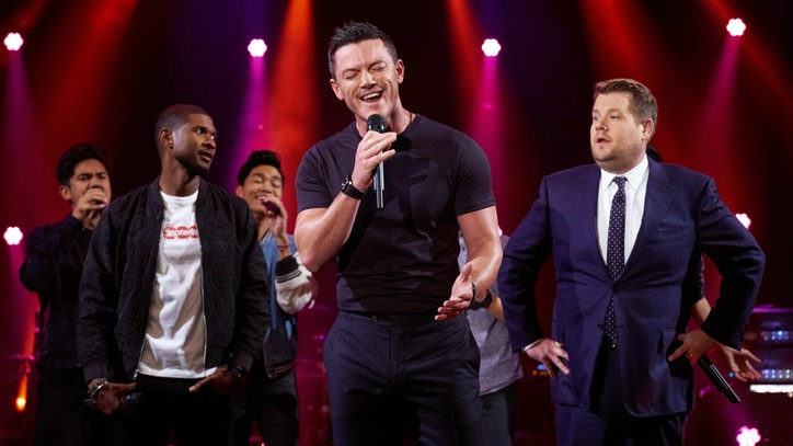 Watch Usher, Luke Evans Riff on Marvin Gaye, Al Green Songs on 'Corden'